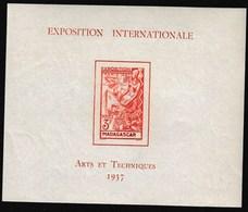 "Madagascar 1937 International Exhibition - Paris, Overprinted ""EXPOSITION INTERNATIONALE"" And"" ARTS ET TECHNIQUES - Andere Internationale Ausstellungen"