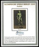 Germany 1996 / Olympic Games Berlin 1916 / Fencing / Vignette, Cinderella, Faksimile / Sporthilfe, Sport Help / MNH - Autres