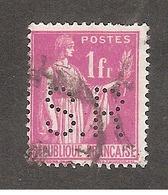 Perforé/perfin/lochung France No 369 S.R Sté St Remy - St Raphael Quinquina - France