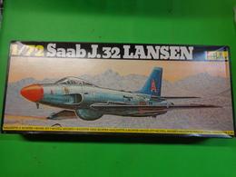 Maquette Avion Militaire-en Plastique-1/72 Heller- Saab J.32 Lansen Ref 343 - Airplanes