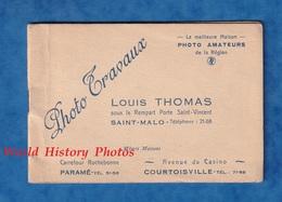 Petit Album Pour Photo Snapshot - SAINT MALO - Maison Louis THOMAS - Paramé & Courtoisville - 1940 - Supplies And Equipment