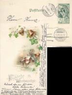 "AK  ""Fröhliche Weihnachten""  UPU Frankatur           1900 - 1882-1906 Coat Of Arms, Standing Helvetia & UPU"