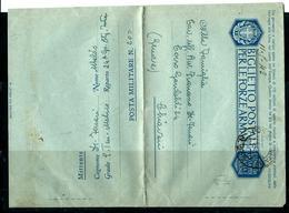 """BIGLIETTO POSTALE PM 200 DIV TAURINENSE 24°Cp BATTAGLIONE """" INTRA"""" X CHIAVARI GENOVA - War 1939-45"""
