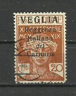 Fiume - Veglia 1920 - MI. 30 I, Used - 8. WW I Occupation