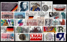 # 1990 Germania Federale - 28 Francobolli Usati - Usados