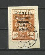Fiume - Veglia 1920 - MI. 30 II, Used - 8. WW I Occupation