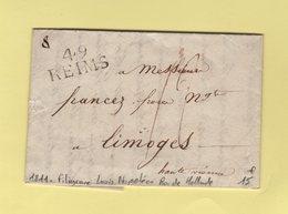 Lettre Avec Filigrane A L Effigie De Napoleon Avec Legende Louis Napoleon Roi De Hollande - 1811 - Reims - Marcofilia (sobres)