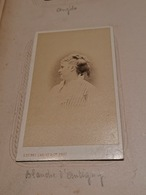 CDV Vintage Albumen Carte De Visite, Marie-Ernestine Antigny, Dite Blanche D'Antigny, Actrice - Photos