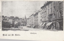 SWITZERLAND-SCHWEIZ-SUISSE-SVIZZERA-GRUS AUS ST.GALLEN-CARTOLINA NON VIAGGIATA-ANNO 1900-1904 - SG St. Gall