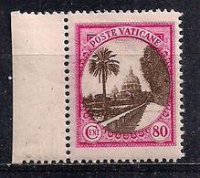 VATICANO 1933 GIARDINI E MEDAGLIONI SASS.27 MNH XF - Postage Due