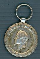 Medaglia Silver Napoleone Iii Imperatore - Campagna D'italia 1859 - Medals