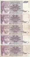 YOUGOSLAVIE 50 DINARA 1990 VF P 104 ( 5 Billets ) - Yougoslavie