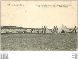 WW GUERRE. Siège De Langres. Un Coin Du Camp D'Artillerie à Ormancey 1907 - War 1914-18
