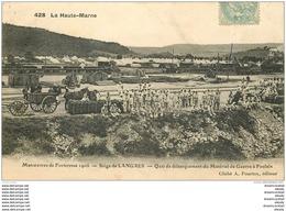 WW GUERRE. Siège De Langres. Quai Débarquement Matériel De Guerre à Foulain 1907 - Weltkrieg 1914-18