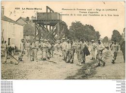 WW GUERRE. Siège De Langres. Préparation De La Route Et Voie Ferrée 1907 - Guerra 1914-18