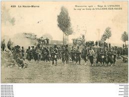 WW GUERRE. Siège De Langres. Le 109° Au Camp De Villiers-sur-Suize 1907 - Guerra 1914-18