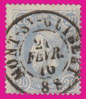 """COB N° 31- Oblitération CONCOURS - Double Cercle """"MONT-St-GUIBERT"""" - 1883 Leopold II."""