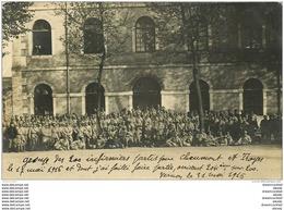 27 VERNON. Photo Carte Postale Rare De 200 Infirmiers Militaires à La Caserne Lens 1916 - Vernon