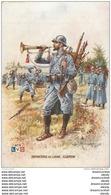 """WW Série L.V.C Par Léon Hingre 1915. Edition """" Le Gaulois """" Bergougnan. INFANTERIE DE LIGNE Clairon - Regiments"""