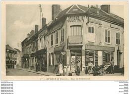 45 COURTENAY. Librairie Journaux Cartes Postale Rue De Villeneuve - Courtenay