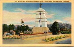 California Redlands Mission San Bernardino Asistencia On El Camino Real Curteich - San Bernardino