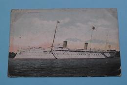 """S.M. Yacht """" HOHENZOLLERN """" ( In De Koffietrommel / P. Moors-Nijs Antwerpen ) Anno 19?? ( See / Voir Photo ) ! - Krieg"""