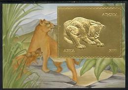 ABKHAZIA - Break-Away State - 1994 - Prehistoric Mammals, Gold - 5000 Min Sheet - Mint Never Hinged - Sonstige - Europa