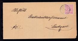Ziffer 10 Pfg. Auf Brief Mit K3 OPPENWEILER 3.8.84 Nach Stuttgart - Wurttemberg