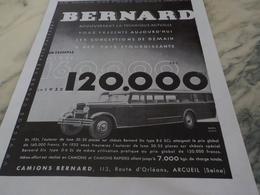ANCIENNE PUBLICITE LE CAMION ET AUTOCAR BERNARD  1931 - Trucks