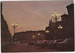Torino: ALFA ROMEO GIULIETTA TI SEDAN, FIAT 2300 S, 600 - Piazza Castello - Notturno - (Italia) - Voitures De Tourisme
