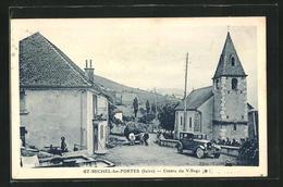 CPA St-Michel-les-Portes, Centre Du Village, Automobile Devant L`Eglise - Sin Clasificación