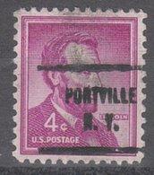USA Precancel Vorausentwertung Preo, Locals New York, Portville 713 - United States