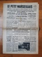 LE PETIT MARSEILLAIS . 3 Août 1940 . - Journaux - Quotidiens