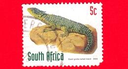 SUD AFRICA - Usato - 2000 - Rettili - Lucertole (Cordylus Giganteus) - 5 - Afrique Du Sud (1961-...)