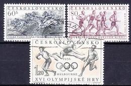 Tchécoslovaquie 1956 Mi 981-3 (Yv 856-7 B), Obliteré - Used Stamps