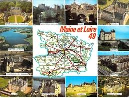49 - Maine Et Loire - Carte Géographique - Multivues - Frankrijk