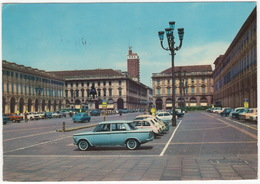 Torino: FIAT 1300/1500, 500, 600, VW 1200 KÄFER/COX, 1500 T3, LANCIA FLAVIA COUPÉ - Piazza S. Carlo - (Italia) - Voitures De Tourisme