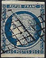 FRANCE:   Le Y&T 4  Obl. Grille 2 TB Marges Avec Voisins - 1849-1850 Cérès