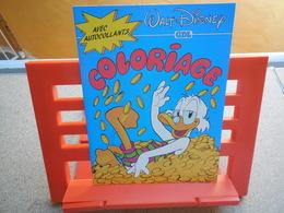 Walt Disney Coloriage Avec Autocollants, Couverture Scrooge, Picsou, 1985, Rare...3C0420 - Autocollants