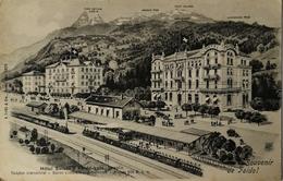 Suisse (TI) Souvenir De Faido // Hotel Suisse // Faldo Gare Tessin (Railway) 19?? - TI Tessin