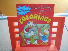 Walt Disney Coloriage Avec Autocollants, Couverture Riri Fifi Loulou 1985, Rare...3C0420 - Autocollants