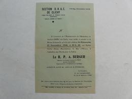 VIEUX PAPIERS - PROSPECTUS : Section D.R.A.C. De Clichy - Le R.P.A. BERGER - Documentos Históricos