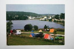 29 : Huelgoat - Le Camping Au Bord Du Lac ( Voiture 2cv  Verte ) - Huelgoat