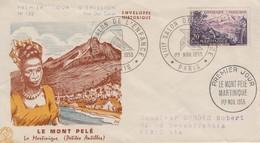 Enveloppe  FDC  1er  Jour   FRANCE    MARTINIQUE      Le  Mont  Pelé    1955 - FDC