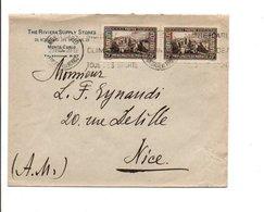 MONACO AFFRANCHISSEMENT COMPOSE SUR LETTRE A EN TETE POUR LA FRANCE 1934 - Monaco