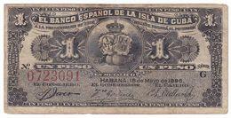 Cuba P 47 A - 1 Peso 15.5.1896 - Fine+ - Cuba