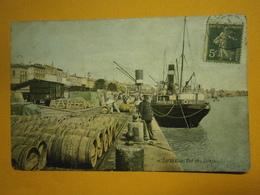 Bordeaux Vue Des Quais Gironde 33,voyagée 1907,bel état Légère Pliure,colorisée,envoi En Lettre économique 0,95€,possibi - Bordeaux