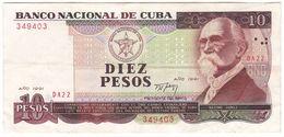Cuba P 109 - 10 Pesos 1991 - VF - Cuba