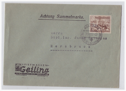Dt.- Reich (001535) Brief Mit Propagandastempel Nürnberg Die Stadt Der Reichsparteitage Gelaufen Am 31.12.1937 - Lettres & Documents