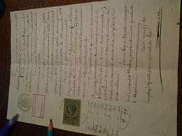 1888 - DOCUMENT (ALBI -TARN)   - 1TP/ COPIE Dentelé + 2 OBL/ DECIMAL + TAMPON A SEC ++FILIGRAMME T/BEAU - Steuermarken